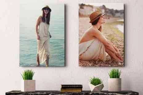 Photo Gifts - Up to Four Personalised Canvas Prints - Save 76%