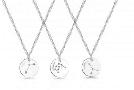 Philip Jones - Star sign necklace made with crystals from Swarovski - Save 50%