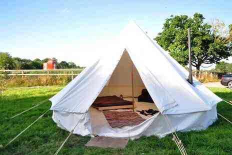 Worcester Glamping - Two nights luxury bell tent stay for two people - Save 43%