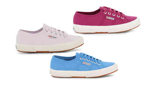 Brands Store - Pair of Superga white sole trainers choose from five colours - Save 43%