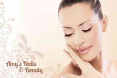 Amys Nails and Beauty - Pamper Package Three Beauty Treatments Such As Facial, Pedicure, and Shellac Manicure - Save 66%