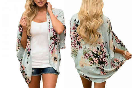 hey4beauty - Floral beach cover up choose from three colours - Save 87%