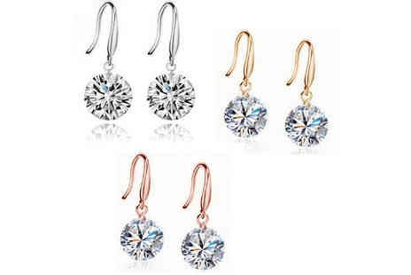 Solo Act - Crystal drop earrings - Save 86%