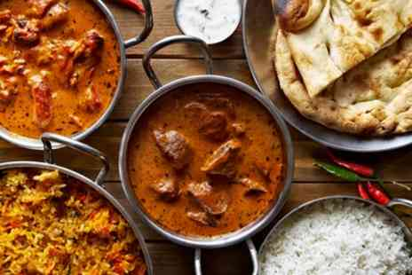 Jehan Curry Hut - Two Course Indian Meal with Side for Two or Four - Save 57%