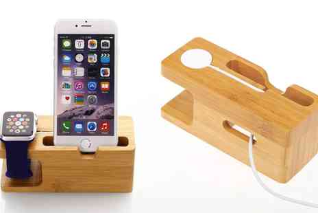 Groupon Goods Global GmbH - GPCT Bamboo Charging Stand for iPhone and Apple Watch - Save 0%