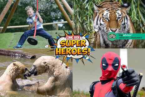 Yorkshire Wildlife Park - Two tickets to Comic Book Superheroes event - Save 50%