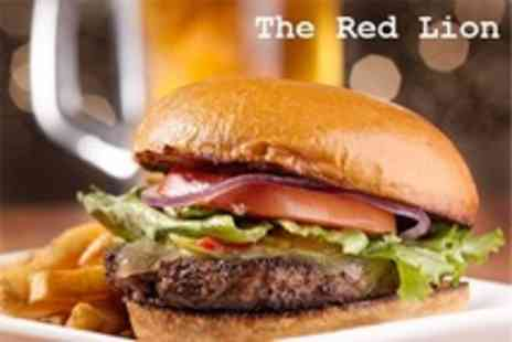 The Red Lion - Burger or Pizza With Drink and Starter For Two - Save 50%