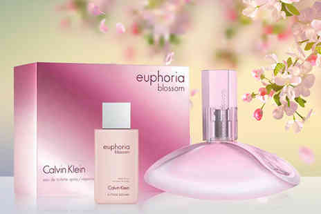 Deals Direct - Calvin Klein Euphoria Blossom eau de toilette and body wash gift set - Save 22%