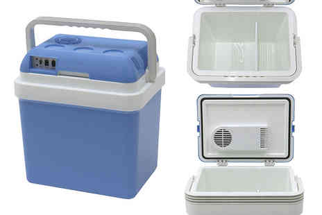 Who Needs Shops - 24 litre electric portable cool box - Save 74%