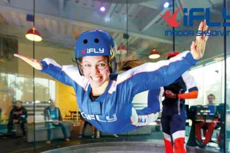 iFLY - Indoor Skydiving Experience with Two Flights, Photo and Video - Save 63%