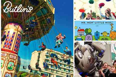 Butlins - Roll Back to 2017 Prices for May Half Term Day Passes - Save 40%