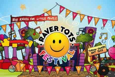 Raver Tots - Ticket for one adult and one child or a family of four to Outdoor Family Festival from 27th May - Save 19%