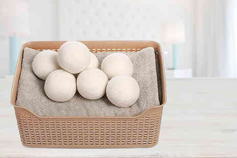Magic Trend - Pack of six wool dryer balls - Save 82%