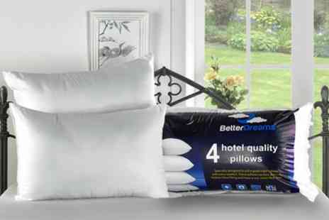 Groupon Goods Global GmbH - Four Hotel Quality Non Allergenic Fibre Filled Pillows - Save 75%