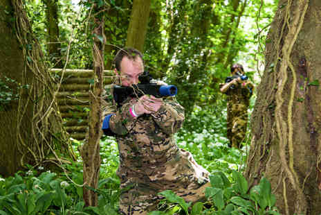 Virgin Experience Days - Forest Laser Tag Adventure with Pizza for Two - Save 0%