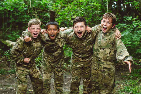 Virgin Experience Days - Forest Laser Tag Adventure with Pizza for Four - Save 0%