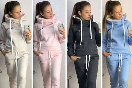 Blu Fish - Fleece lined loungewear set choose from four colours - Save 58%