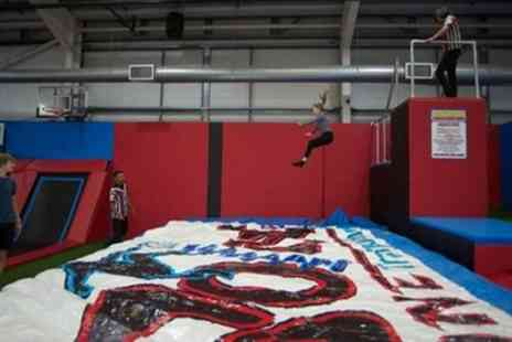 Boing Zone Trampoline Park - 60, 90 or 120 Minute Trampoline Jump Session - Save 38%
