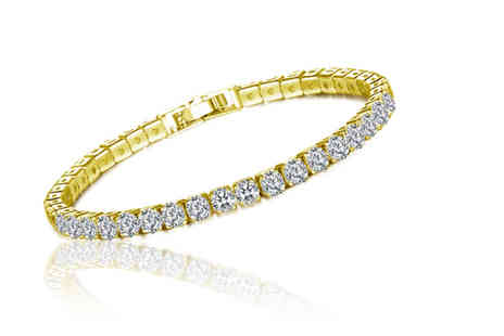 Your Ideal Gift - Created sapphire single row bracelet - Save 77%