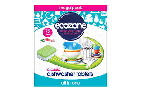 Spire Tech - Ecozone Classic Dishwasher Tablets Choose between pack of 25 or 72 - Save 30%