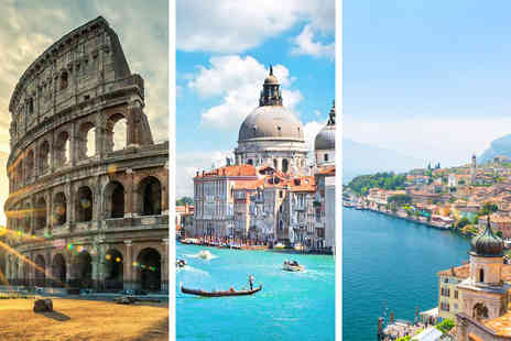 Weekender Breaks - Six Nights Rome, Venice and Lake Garda break breakfast, trains and return flights - Save 23%