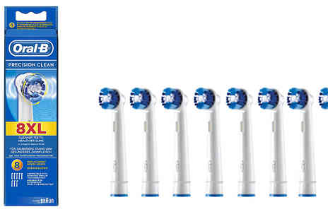 Spire Tech - OralB Precision Clean Replacement Toothbrush Heads Choose Pack of 8 - Save 38%