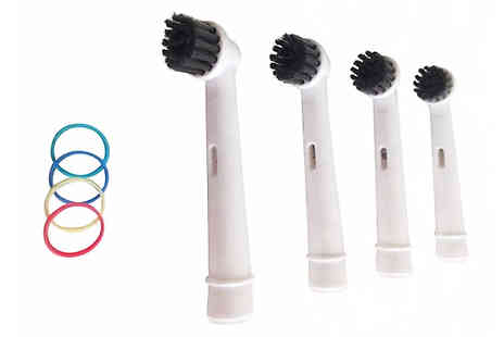 Wow What Who - Up to 64 OralB Compatible Charcoal Toothbrush Heads - Save 80%