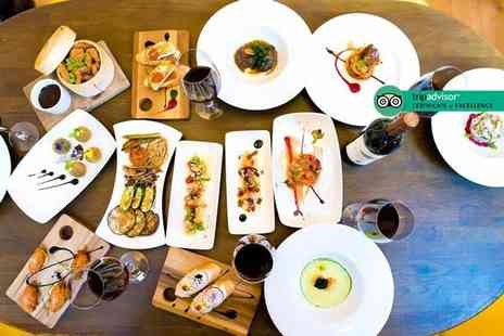 La Bandera Restaurante - Three tapas dishes to share between two people with a glass of wine or beer each - Save 35%