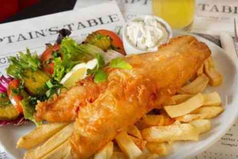 The Waves Fish And Chips - Medium or Large Fish and Chips with Mushy Peas and Drink - Save 34%