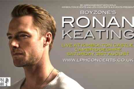 Ronan Keating - One child or adult general admission ticket from 31st August - Save 9%