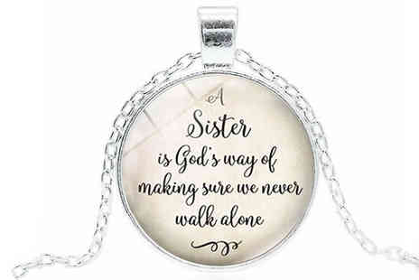 Marcus Emporium - Sister Quote Necklace - Save 77%