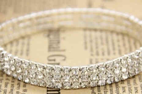 Marcus Emporium - Rhinestone Crystal Covered Anklet - Save 83%
