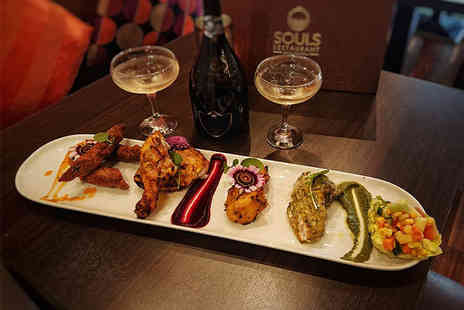 Souls Restaurant - Indian sharing platter and cocktails for two people - Save 41%
