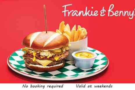 Frankie and Bennys - Two Course A La Carte Meal for Two and Optional Bottle of Wine to Share - Save 61%
