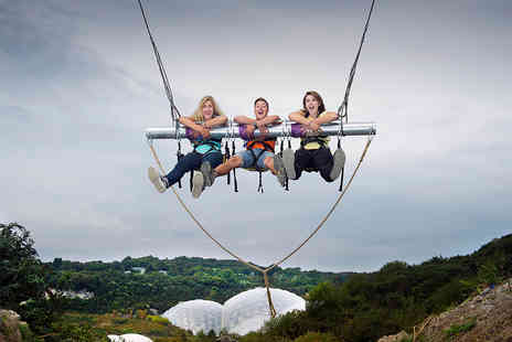 The Eden Project - Hangloose Zip Wire, Giant Swing, Vertigo 360, Big Air and The Drop for Two - Save 0%