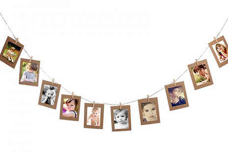 HXT Goods - Hanging Banner Photo Frames Choose from Three Colours - Save 90%