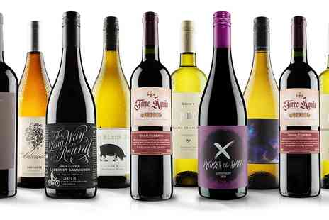 Virgin Wines Online - 10 bottles of wine red, white or mixed case - Save 64%