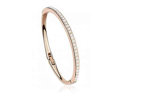 Your Ideal Gift - Rose gold plated bangle - Save 81%