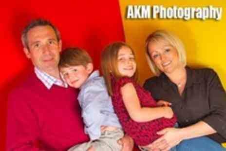AKM Photography - Family Photo Shoot With Four Prints - Save 88%