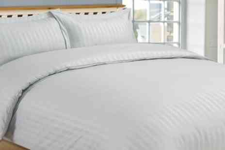 Groupon Goods Global GmbH - Hotel Stripe Soft Touch Duvet Cover Set - Save 0%