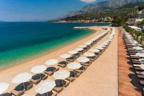 Medora Auri Family Beach Resort - Four Star Beachfront Family Friendly Hotel on the Makarska Riviera for two - Save 34%