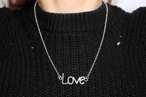 PearlShed - Love pendant necklace - Save 80%