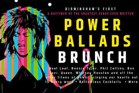 Shaanti - Two entry tickets to Power Ballads Brunch and bottomless cocktails on 1st June - Save 25%