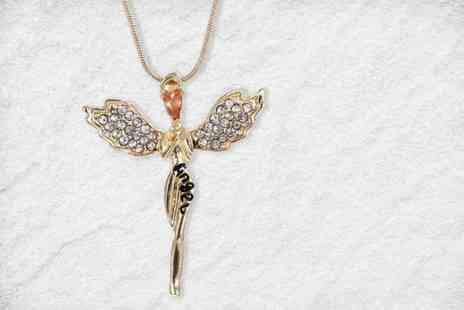 Your Ideal Gift - Guardian angel necklace made with crystals from Swarovski - Save 84%