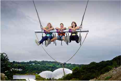 The Eden Project - Zip Wire, Giant Swing, Vertigo 360, Big Air and The Drop for Two - Save 0%