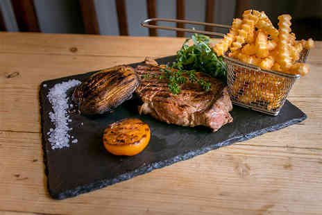 Blue Eyed Maid - Steak dinner with a bottle of wine for two people - Save 0%