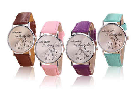 Magic Trend - Who Cares? ladies watch choose from seven colours - Save 59%