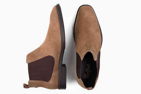 Redfoot - Redfoot Mens Tan Water Resistant Suede Chelsea Boots Available in Five Sizes - Save 78%