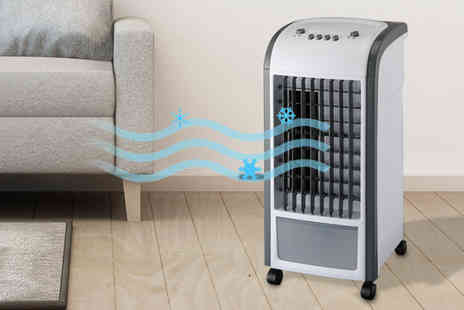 Groundlevel - Easy move three speed portable air cooling unit - Save 66%