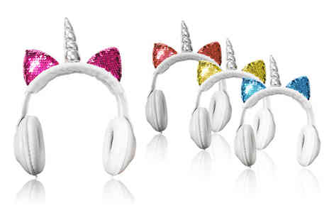 Magic Trend - Magical unicorn headphones choose from four colours - Save 75%